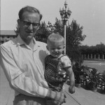 Colin Mackerras with Stephen in Beijing 1965