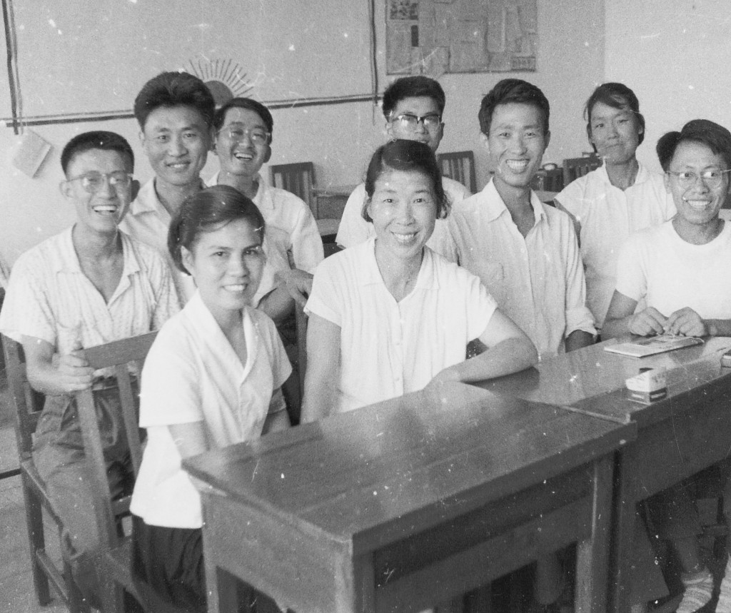 Colin Mackerras's students at the Beijing Foreign Languages University 1965