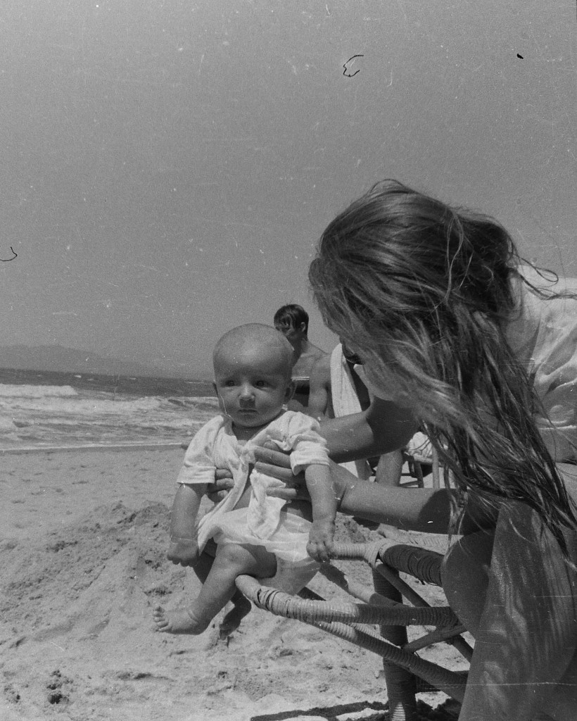 A French woman and her baby at Beidaihe