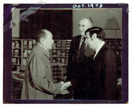 Stephen Fitzgerald and Gough Whitlam meeting Mao Zedong 1972, Australia and China's first recognition of friendship since 1949.