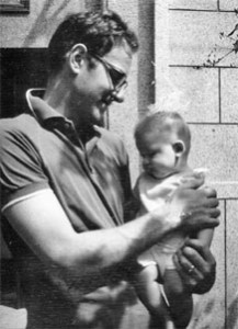 Colin Mackerras with baby Stephen, Beijing 1965.