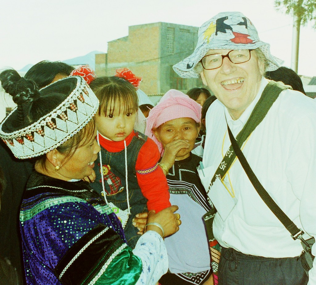 Colin with Hani people in Honghe Prefecture, Yunnan Province