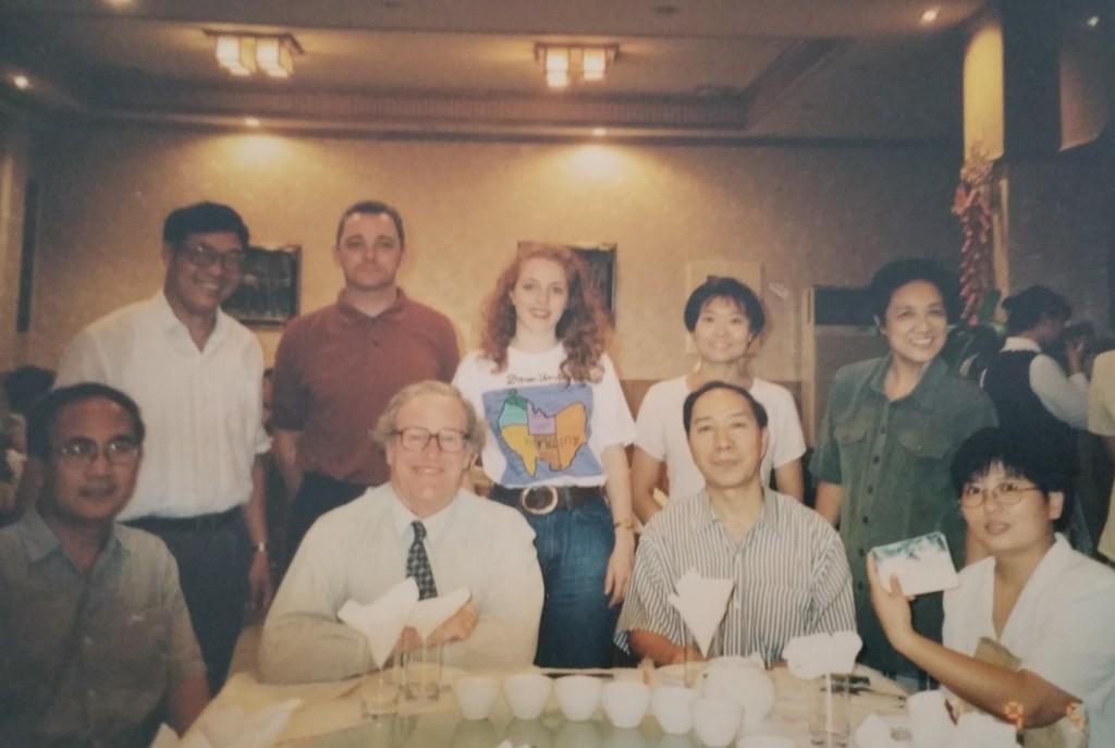 Beiwai Australian Studies staff, from top to bottom: Yu Zhiyuan, Kevin, Veronica, Li Youwen, Wu Zhenfu, Du Xuezeng, Colin Mackerras, Hu Wenzhong, Xia Yuhe