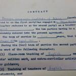 Alyce's 1964 BFSU contract: English