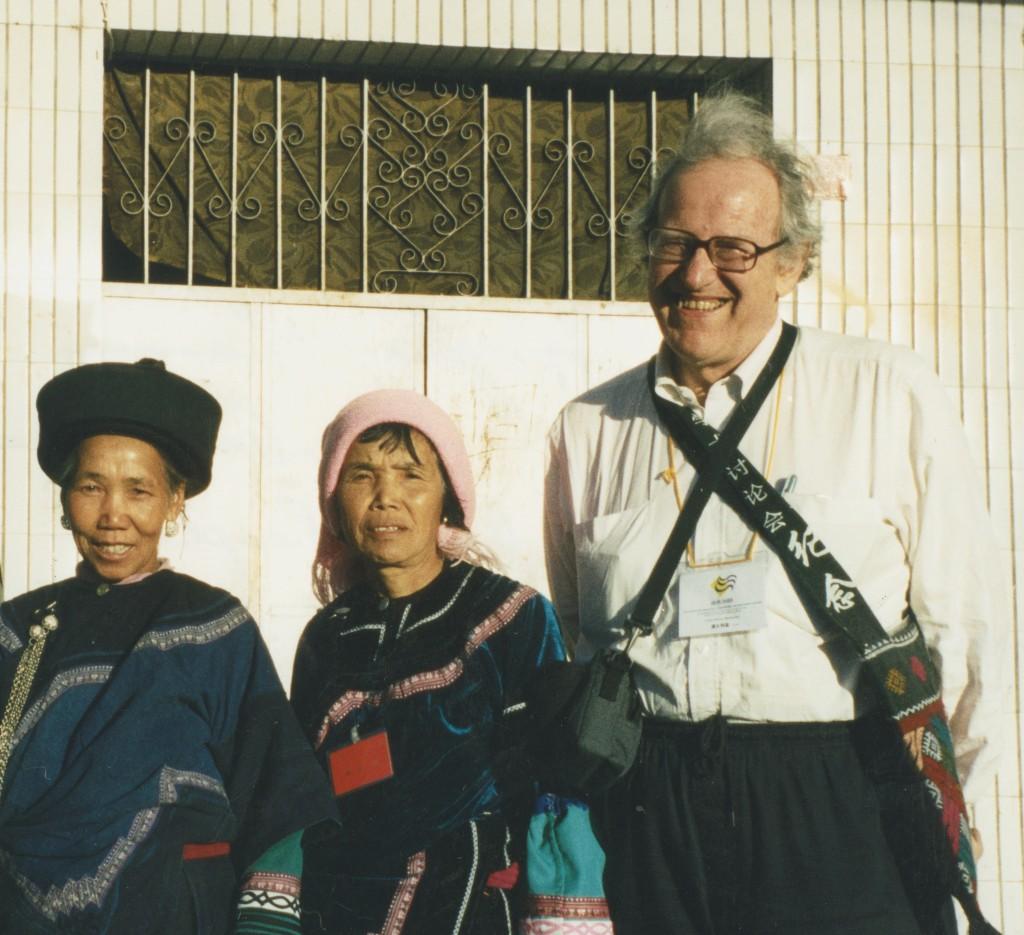 Colin with Hani women in  Yunnan