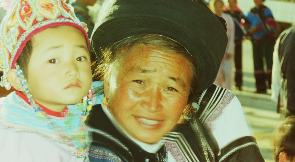 Hani woman and child in Yunnan