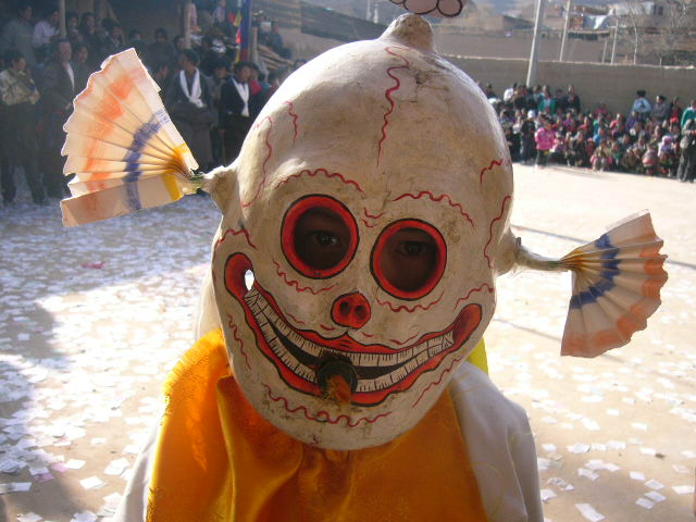 A mask used in a Tibetan Chum Dance 2011 in Qinghai