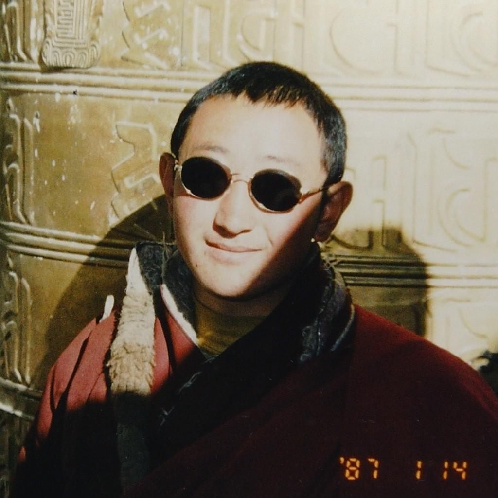 Tibetan monk in 1987