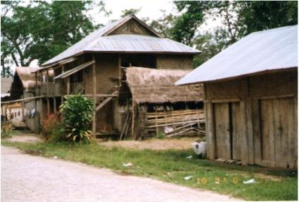 A Dai House near the Myanmar Border, Taken October 2000