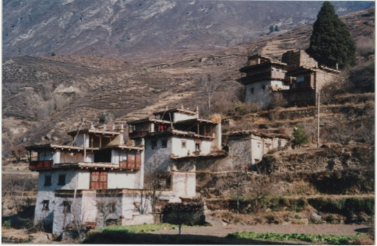 This picture below shows the village itself, set on a hill