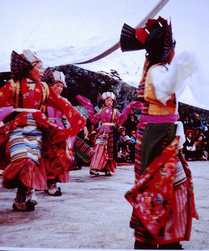 Tibetan drama dates from the fifteenth century and is the oldest form of minority ethnic drama in China. It is characterised by smooth and melismatic singing method and extensive use of masks, with the stories about the struggle between good and evil and based on Tibetan history or Buddhist themes.