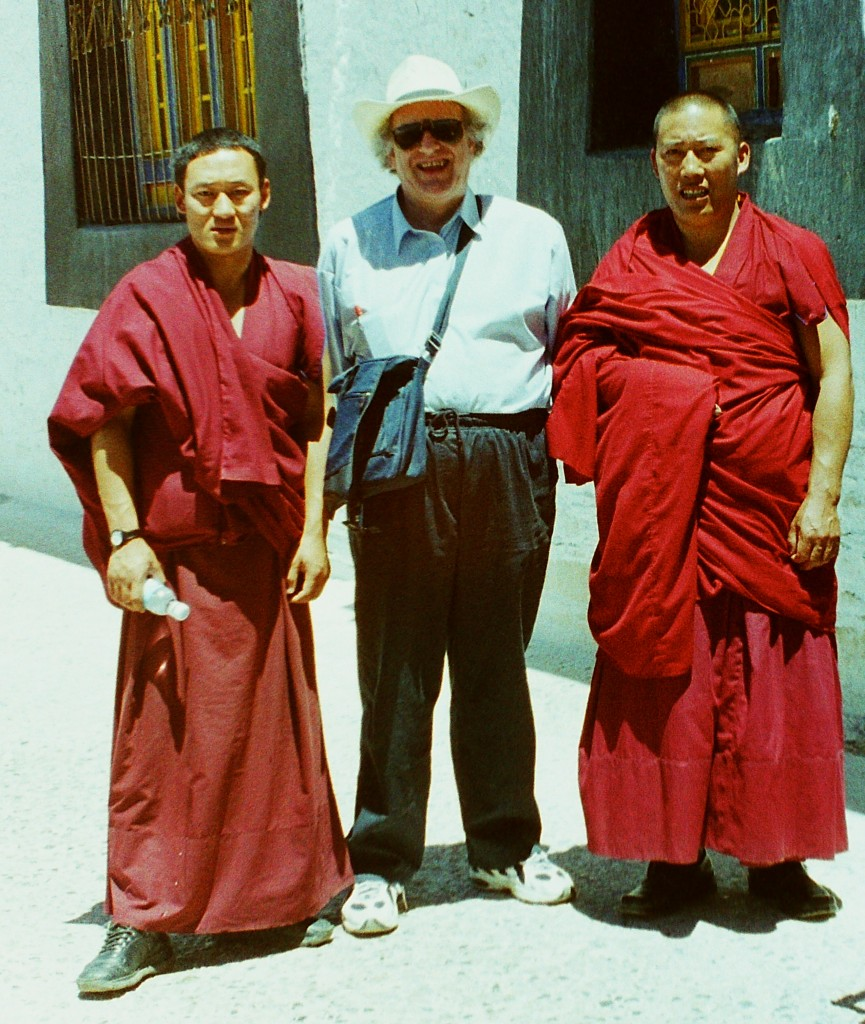 Colin with some Tibetan monks
