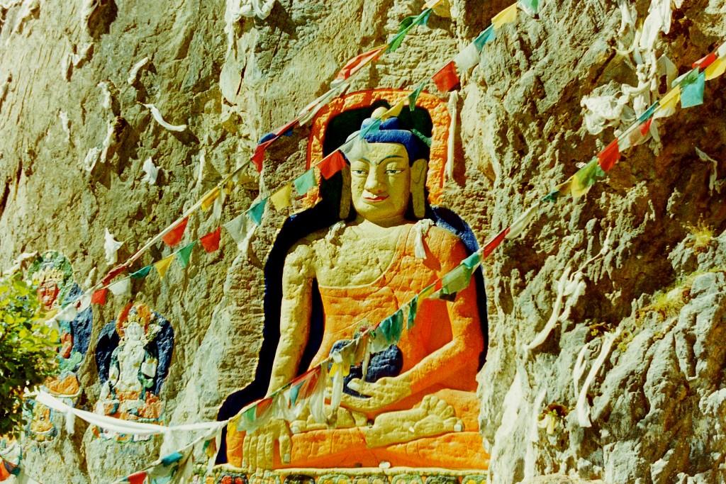 Tibetan rock wall