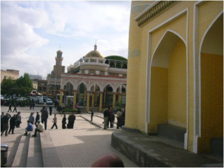 Outside the Idkah Mosque, Kashgar