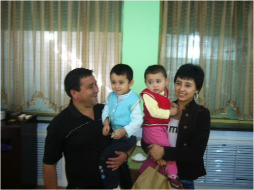 An urban Uygur family, with one son and one daughter. Both parents are well educated, the wife working in Xinjiang University